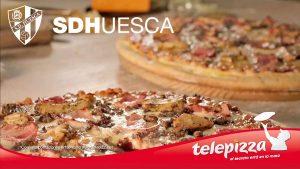 Telepizza y la SD Huesca inician su colaboración en El Alcoraz